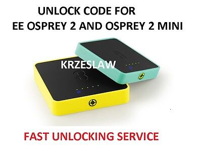 UNLOCK CODE FOR EE OSPREY 2 AND OSPREY 2 MINI 4G WiFi Y854 Y853 Y855FAST SERVICE