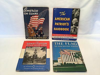 Lot Of 4 ~ AMERICAN PATRIOT'S SERIES ~ THE FLAG ~ Vintage Books ~ HC