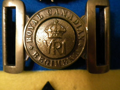 Very Rare  Royal Canadian Regiment  Victorian Era Buckle