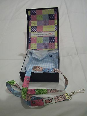 Vineyard Vines Brand New -Pachwork  Lanyard~In A Vinyard Vines Gift Box