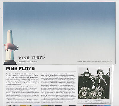 Pink Floyd Envelope 2016 Royal Mail First Day Cover Blank Card Music Rock Pig