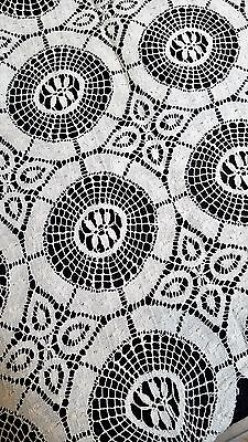 Antique 1880-1900 Bobbin Lace 70 x 80 Handmade Tablecloth