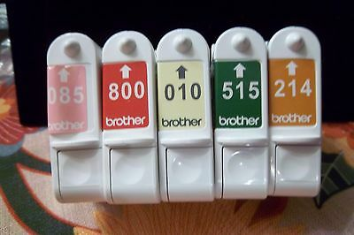 Brother E-100 Cratridge Thread  5 Pack  Get One Cartridge Free 6 For 5 Price
