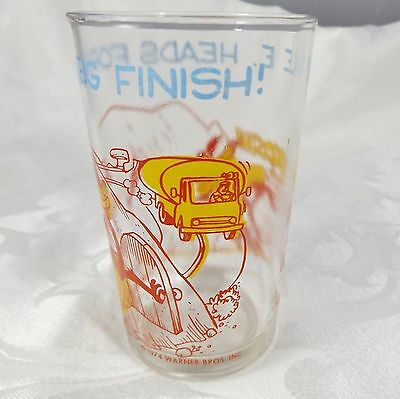 1974 Wile E. Coyote & Road Runner Jelly Jar Glass Warner Bros