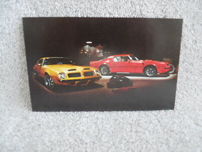 1974 Pontiac Firebird Ta Sd 455 & Formula Nos Promo Dealership Postcard