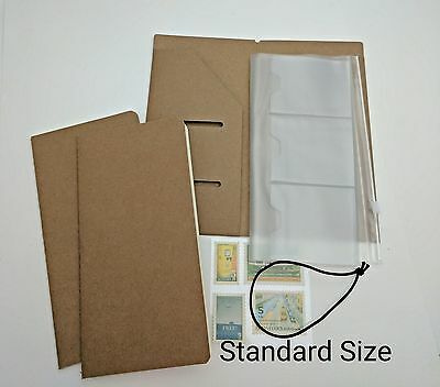 Bundle Set Inserts for Midori Travelers Notebook PVC Kraft Papers Regular Size