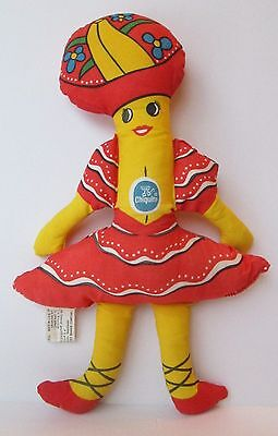 "1975 Miss Chiquita Banana 15"" Plush Advertising Plush Doll Vintage Plush"