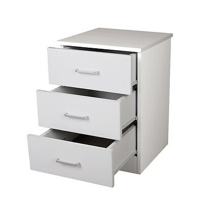 Redfern 3 Drawer Bedside Table/Chest/Storage/Cabinet - White