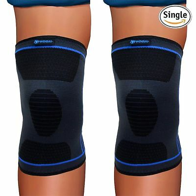 Knee Compression Sleeve (Single) - Support Brace for Running Jogging Sports