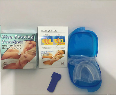 Anti Snore Mandibular Mouth Device Stop Snoring Aid - Sleep Apnoea Cure New