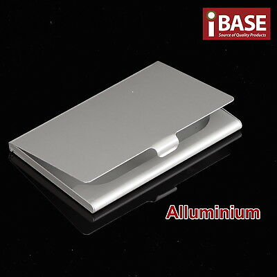 Business Card Holder Credit ID Drivers Licence Pocket Hard Case Aluminium Alloy