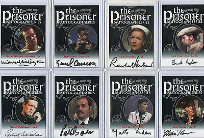 The Prisoner Autograph Prop & Costume Card Selection NM