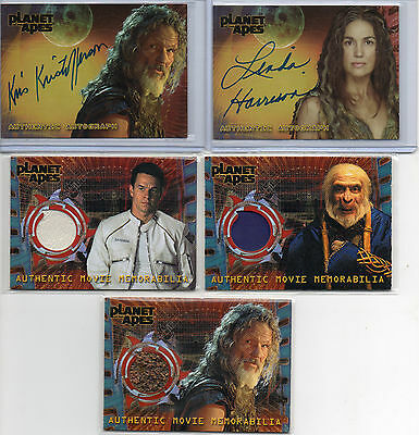Planet Of The Apes Autograph & Costume Card Selection NM