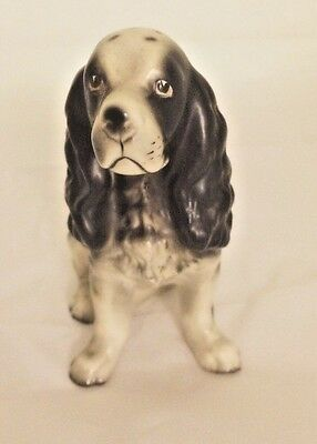 VTG English Springer Spaniel Japan Porcelain Figurines dog statue MidCentury