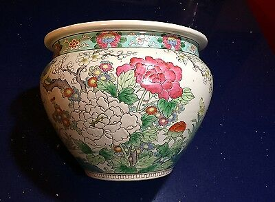 Antique Chinese Porcelain Large Bowl  Planter