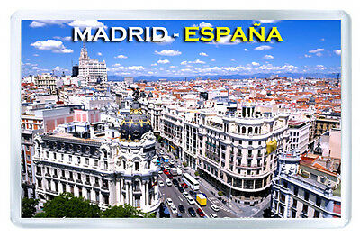 Madrid Spain Mod8 Fridge Magnet Souvenir Iman Nevera