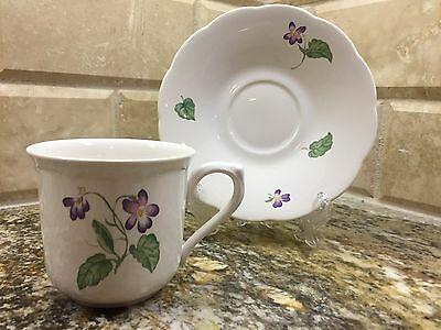 Lenox Lantana fine china SPRING VIOLETS - CUP AND SAUCER set - free shipping