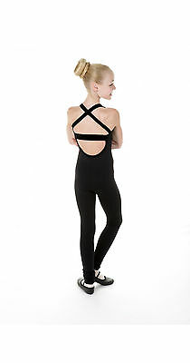 NEW SKATING BLACK STRAPS ONE PIECE XPRESSION XPSport1518 MADE ORDER 3WKS