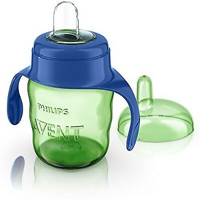 Philips Avent Easy Sip Spout Cup with Handle(200ml Blue) Easy to Drink Non-Spill