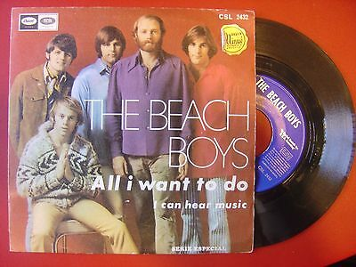 THE BEACH BOYS All I want to do / I can hear music SPANISH 45 CAPITOL 1969 p/s