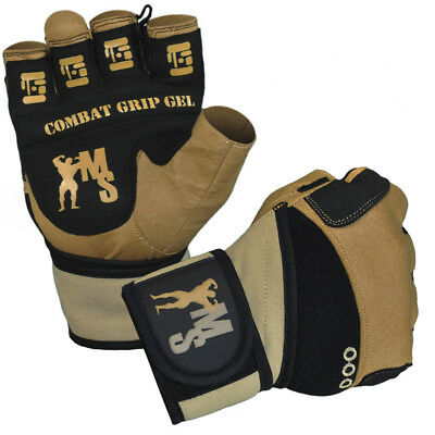 Muscle Style Combat Grip Training Gloves Fitness Handschuhe mit Bandagen TOP