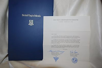 1973 Franklin Mint British Virgin Island 1St Day Of Issue Cachets Coin Stamp Set