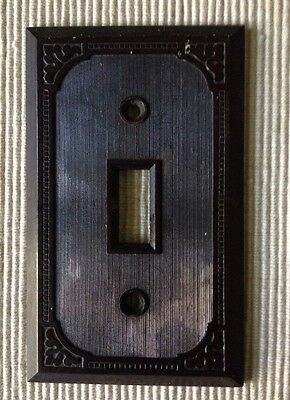 Vintage Bakelite Brown Single Switch Wall Plate