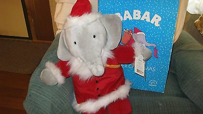 NIB Babar the Elephant Father Christmas Plush Toy Limited Edition w/Certificate