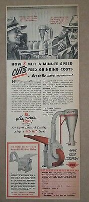 1945 Harvey Racine Hammer Mill Red Hed Ad
