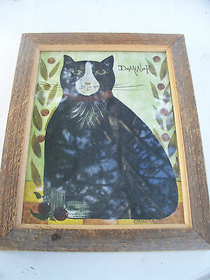 "Framed cat print 'Dominick"" by artist Chiantta"