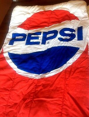 Rare Vintage Pepsi Advertising Full Size Sleeping Bag Fantastic Condition