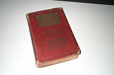 Vintage 1930 Hotel Red Book and Directory Annual 45th Edition!  MAKE OFFER!