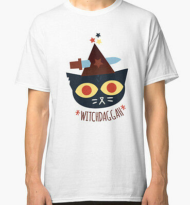 WitchDaggah - Night in the Woods Men's White Tees T-Shirt Clothing