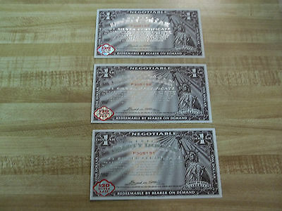 2006 Norfed $1 GEM uncirculated! 3 consecutive notes!