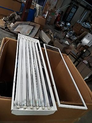 Used LSI Fluorescent Lighting 6 Lamp T5 54 Watt HO bulbs120-277 Volt Light