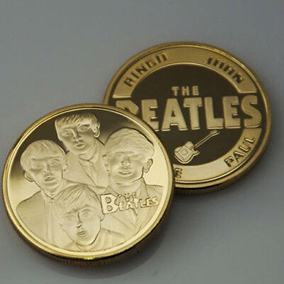 The Beatles Gold Commemorative Collectors Coins Souvenir Coin Gifts 40MM