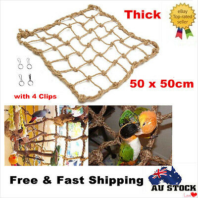2 x Large Parrot Birds Cage Toy Hanging Rope Climbing Net Jungle Fever Ladder