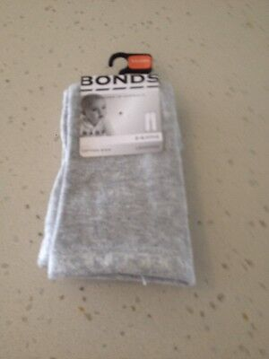 BNWT Bonds classic leggings in new grey marle size 0-6 months