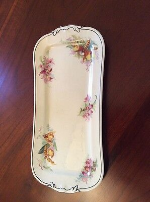 "Royal Doulton ""Orchid"" Sandwich Tray D5215"