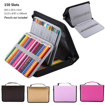 150 Slots Colored Pencil Case Stationery PencilCase Drawing Painting Storage SG