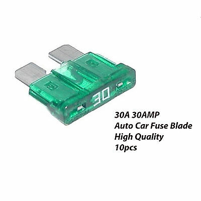 10 pieces Standard Blade Auto Car Assorted Fuse Assortment Kit 30A 30 Amp | LiFa