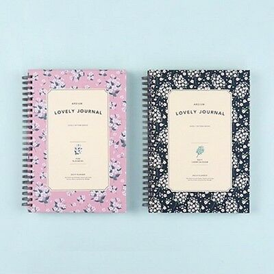 [ARDIUM LOVELY JOURNAL UNDATED] Daily Weekly Monthly Yearly Diary Note Planner