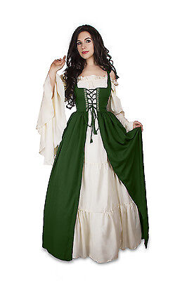 IDD Renaissance Medieval Irish Costume Over Dress Fitted Bodice