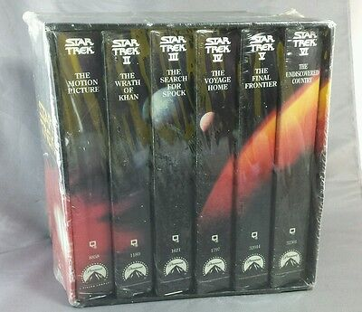 Star Trek: The Movie Collection 6 Piece VHS - Factory Sealed - Rare