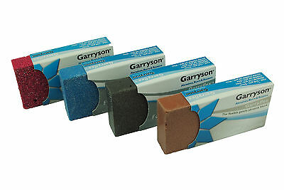 Set x 4 Garryflex Garryson Blocks 36 60 120 240 Grit Abrasive Cleaners. M0294