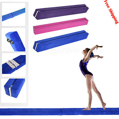 7ft Gymnastics Folding Balance Beam Training Home 2.1M Hard Trainning FitnessNew