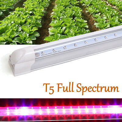 Indoor Plant Led Grow Light Full Spectrum T5 Vegetable Growing Tubes Pink Light