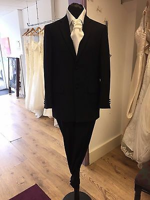 Black Pinstripe Two Piece Wedding Or Prom  Suit By Torre