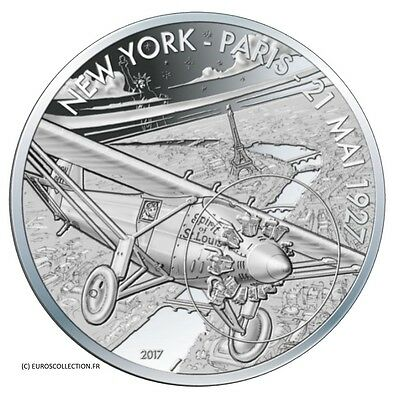 France 10 € Euro Silver Unc Proof Spirit Of St Louis Lindbergh 2017