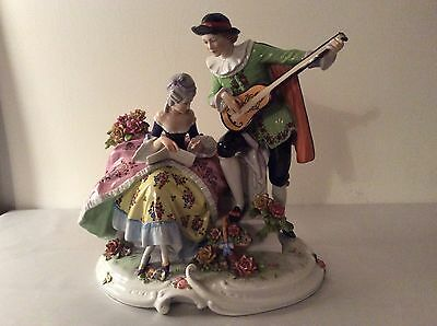 Lovely Dresden unterweissbach large porcelain figurine figure DONT MISS OUT